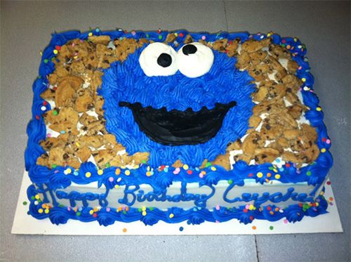 Cookie Monster Cake With Images Monster Birthday Cakes