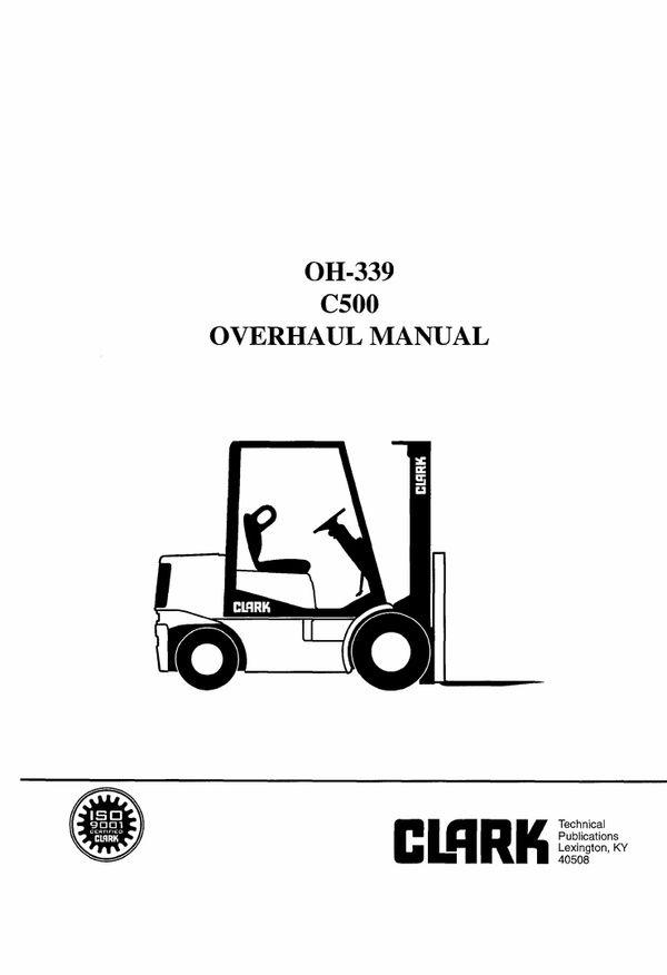 Download Clark C500(Y) 30-55 Forklift Service Repair