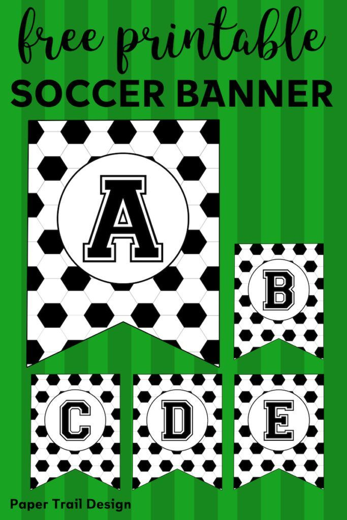 Free Printable Soccer Banner | Paper Trail Design