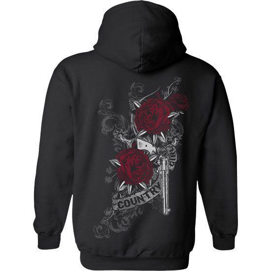 Country Girl Rose Gun Women/'s Hoodie Sweatshirt