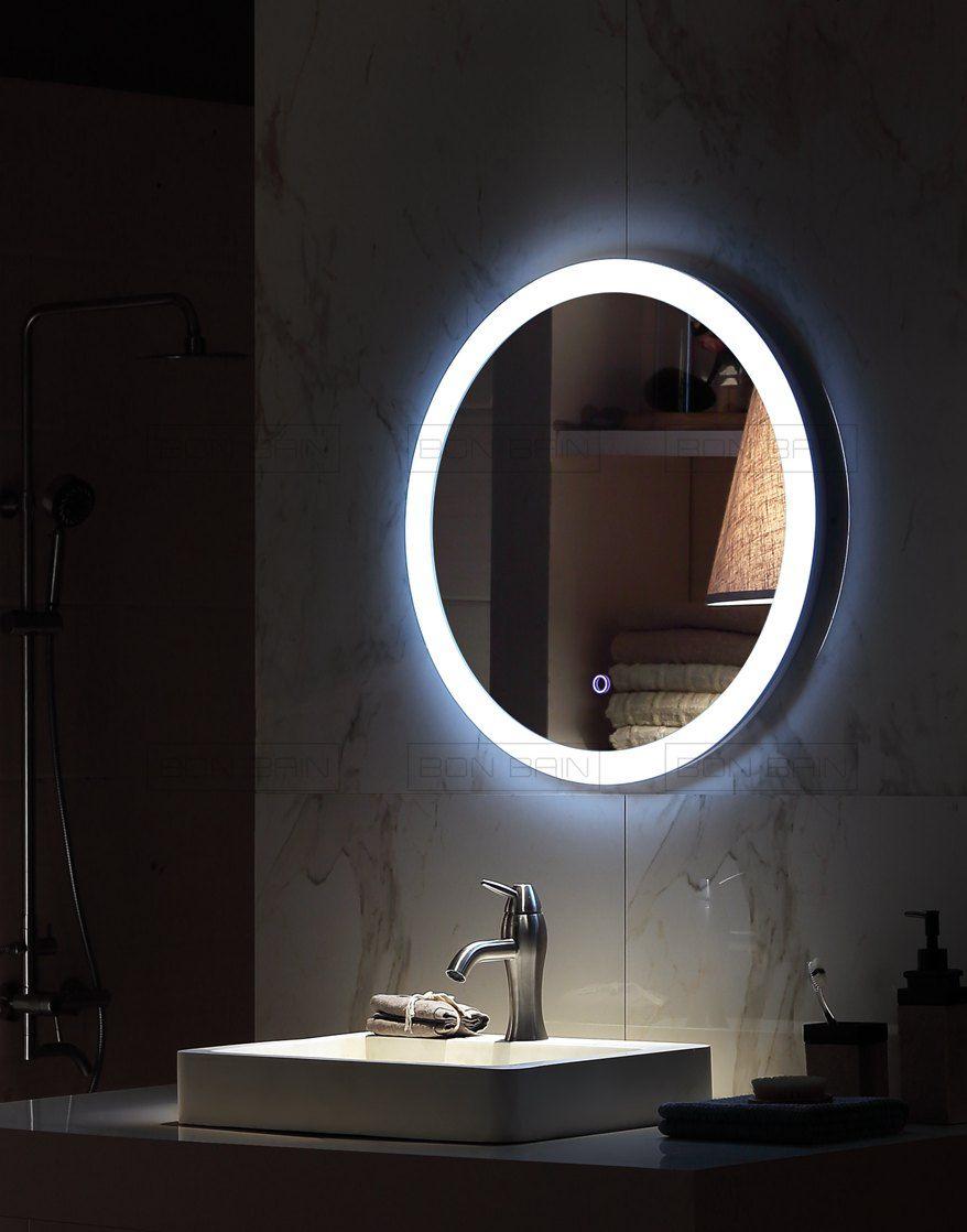 Miroir Eclairant Salle De Bain miroir rond lumineux | miroir lumineux, miroir lumineux led