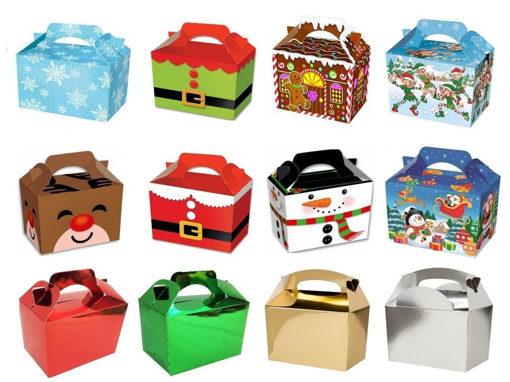 Details About Childrens Kids Christmas Table Present Gift Box Xmas