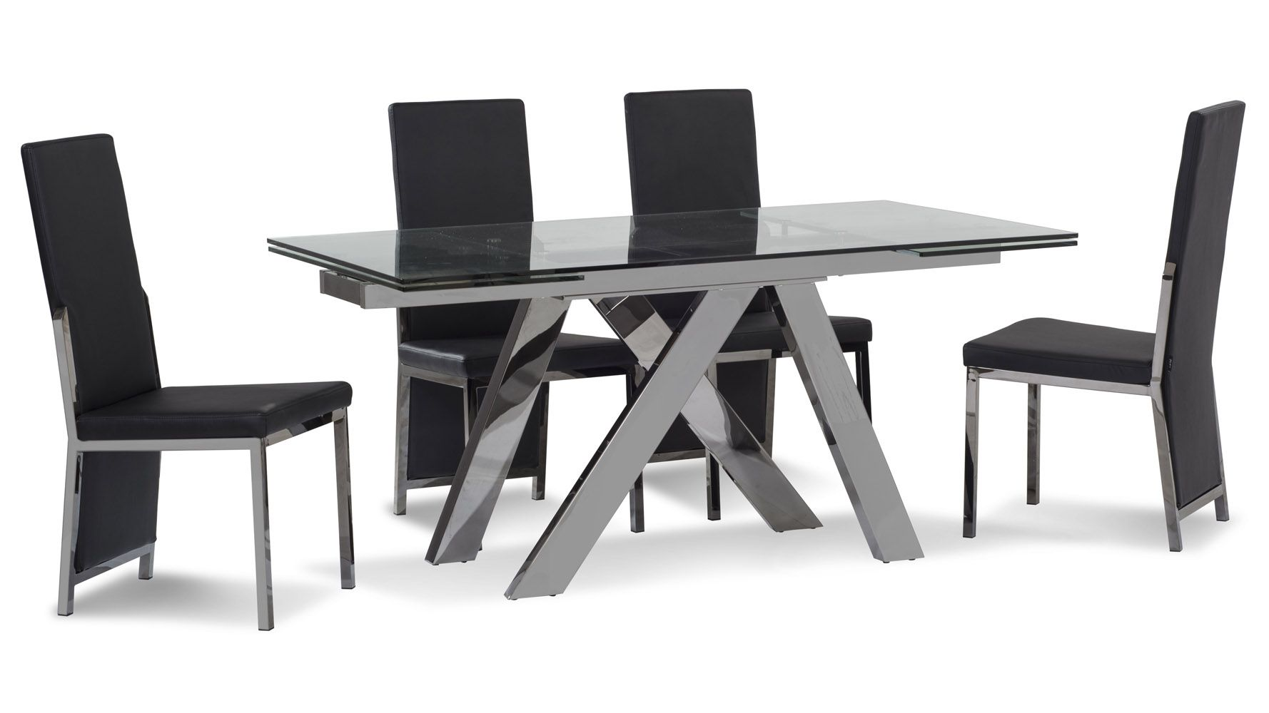 Room · Cruz Expandable Modern Dining Table With Chocolate Glass Top | Zuri  Furniture