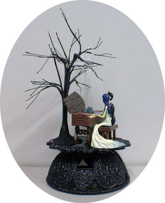 Corpse Bride & Victor Wedding Cake Topper Tim Burtons TREE Halloween ...