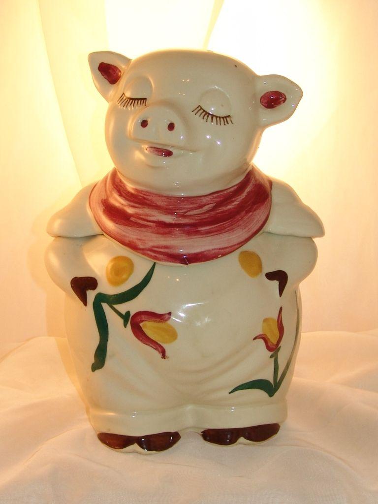 vintage pig cookie jar value
