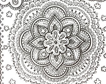mandalas henna style coloring book to color let it heal and relax - Henna Coloring Pages