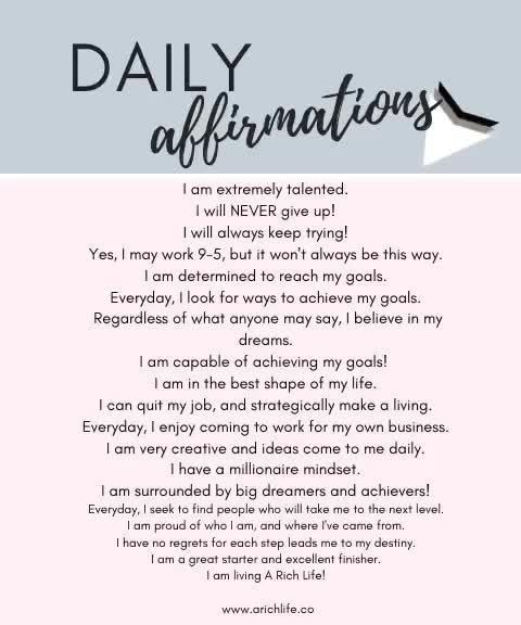 Daily Affirmations  — A Rich Life
