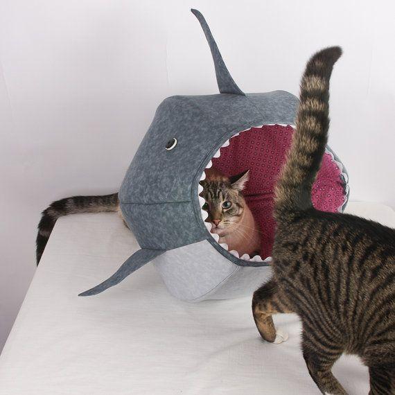 The Cat Ball Cat Bed For Shark Week Shark Stuff For Cats