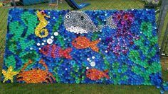 Bottle top mosaic - under the sea