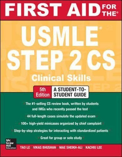 First Aid for the USMLE Step 2 CS   USMLE 2 in 2019   First