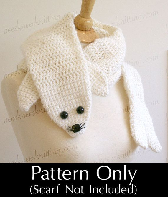 Digital PDF Crochet Pattern for Seal Pup Scarf - DIY Fashion ...