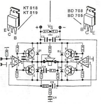 200 Watt High Quality Audio Amplifier circuit diagram
