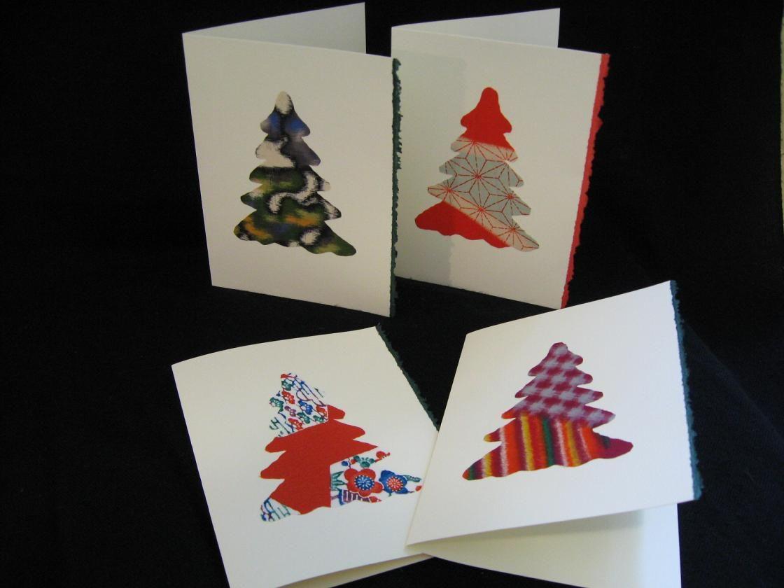 Japanese Kimono Silk Christmas Cards On Etsy Greeting Cards
