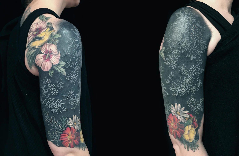 White On Black Tattoo Experiments Body Art Black Tattoos Black