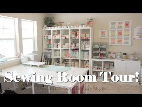 My Sewing Corner Large Family Small House Organization Youtube Sewing Room My Sewing Room Quilting Room