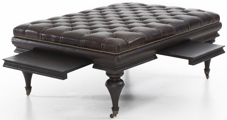 "The Bernhardt ""Brockton"" Coffee Table Ottoman Features A"