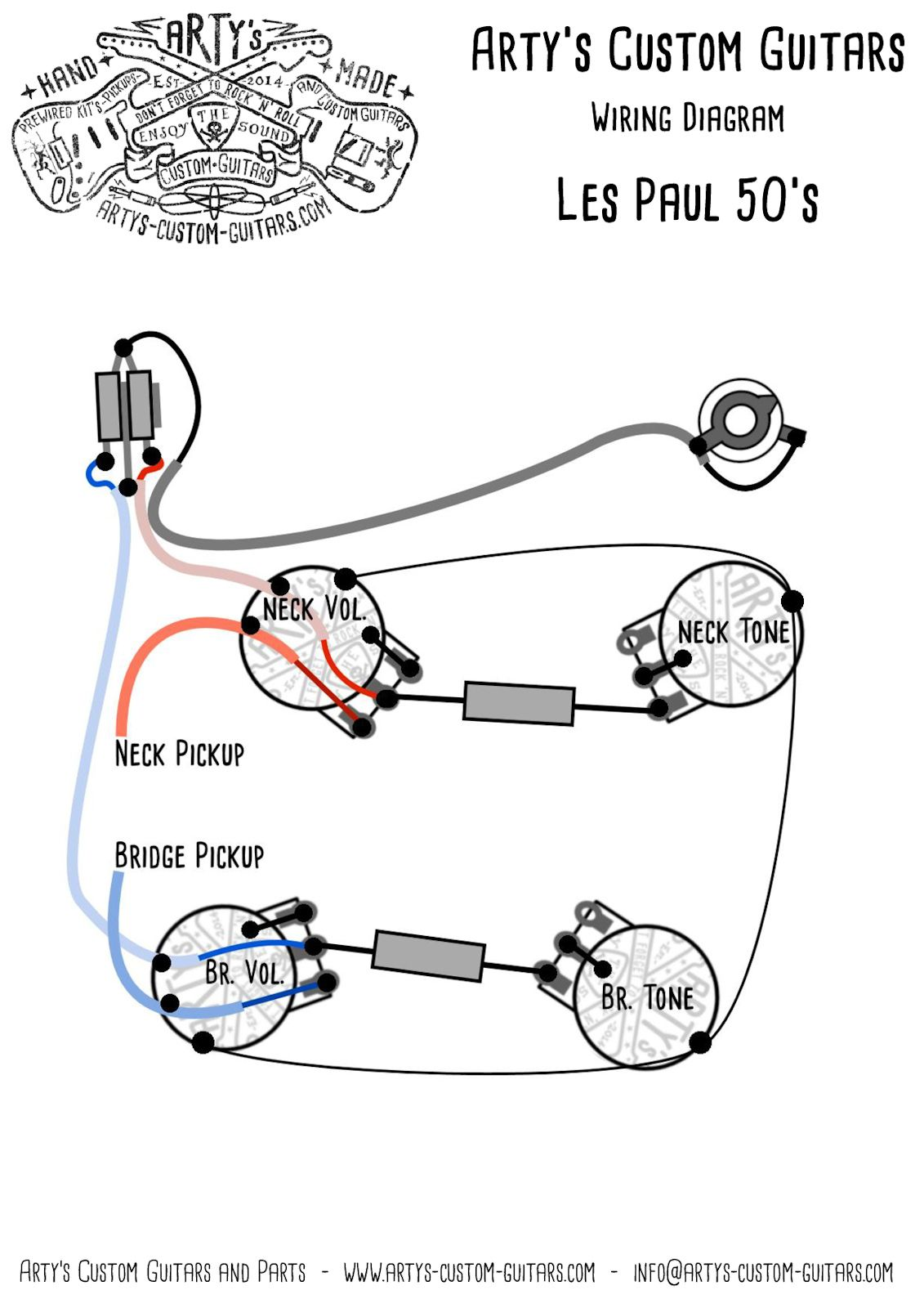 Arty's Custom Guitars Wiring Diagram Plan Les Paul Assembly Harness