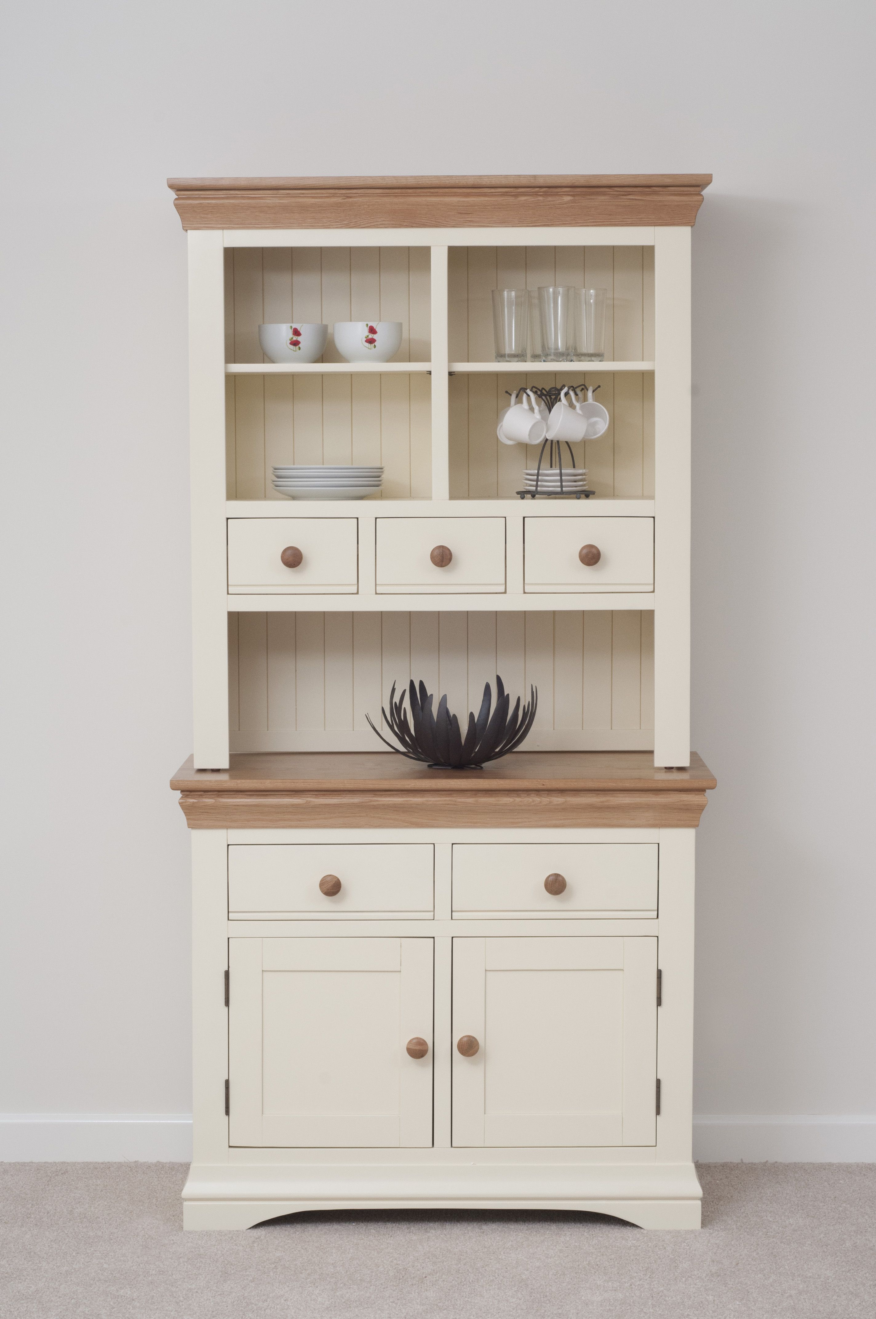 Country Cottage Painted Funiture Cabinet Cream Welsh Dresser Oak Furniture Land Www Oakfurnitureland