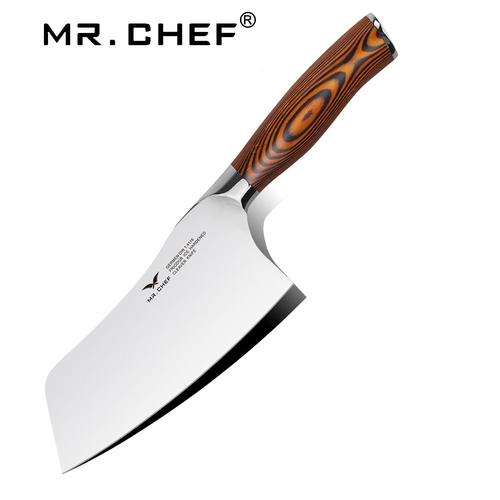 37 19us 11 Off Professional 7 Inch Chinese Cleaver Germany Steel Chefs Knife Carbon Kitchen Cooking Knife Facas Cozinha Pakkawood Handle Chef Knife Steel Che Chef Knife Knife Cool Kitchens