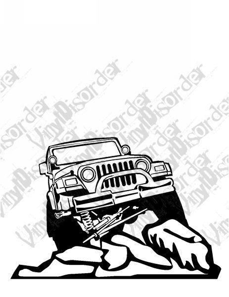 Jeep 4x4 4 X 4 Offroad Rock Climbing Vinyl Decal Car Window Stickers