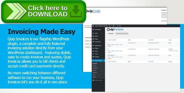 Free nulled Quip Invoices - Fully Featured WordPress Invoicing - email invoices