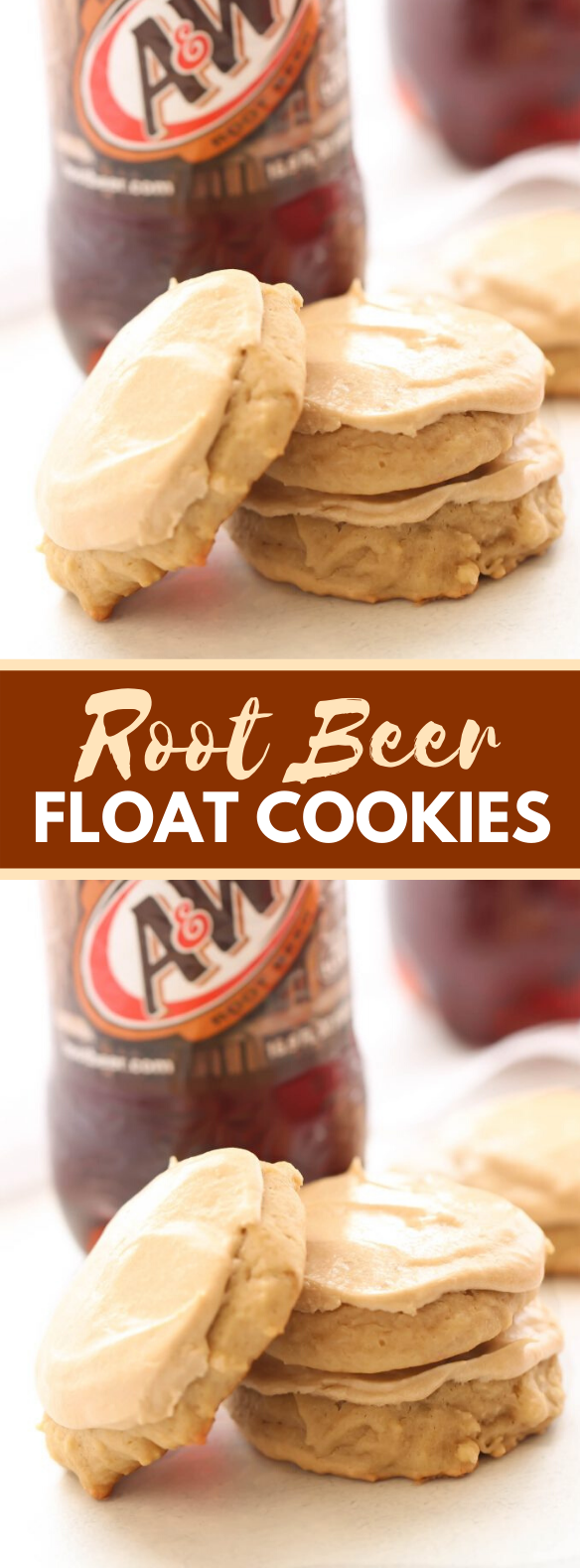 ROOT BEER FLOAT COOKIES #desserts #sweets #cookies #rootbeer #cream #rootbeerfloat