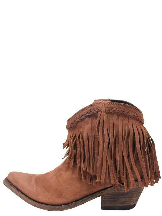 LIBERTY BLACK Short Fringe Womens Boots Chocolate T Moro LB ...