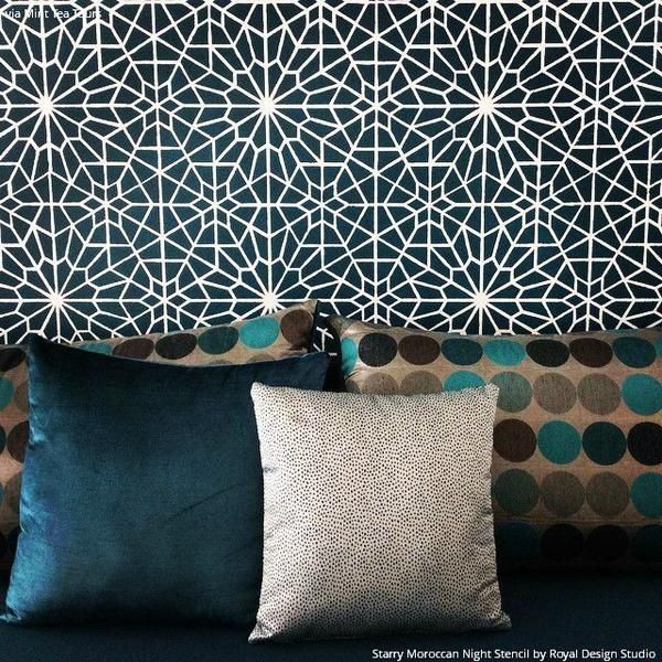 A Starry Moroccan Night Stencil inspired by the night skies of Marrakech.