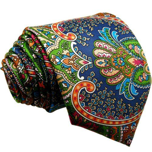 e55b9b301ce1 Shlax & Wing Mens Ties Neckties Paisley Multicolor Red Green Yellow Silk…