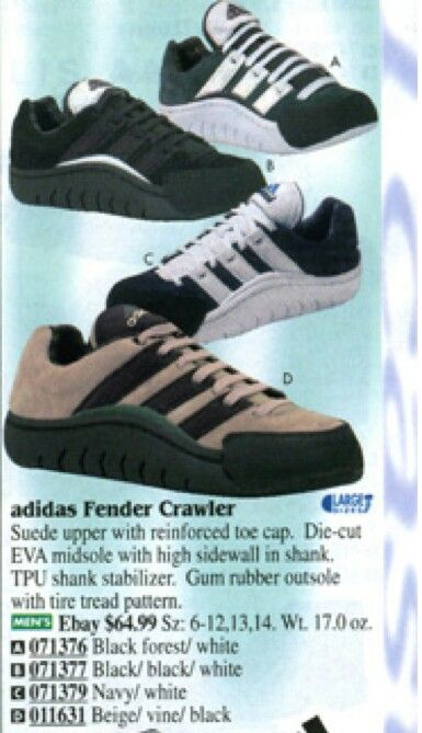 Adidas Fender Crawler 1996 With Images Adidas Sneakers
