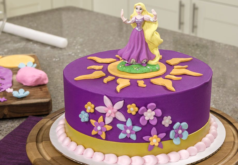 Astounding Order A Cake From A Local Bakery Rapunzel Birthday Cake Funny Birthday Cards Online Barepcheapnameinfo