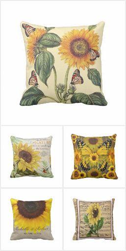 Sunflower Decor Throw Pillows