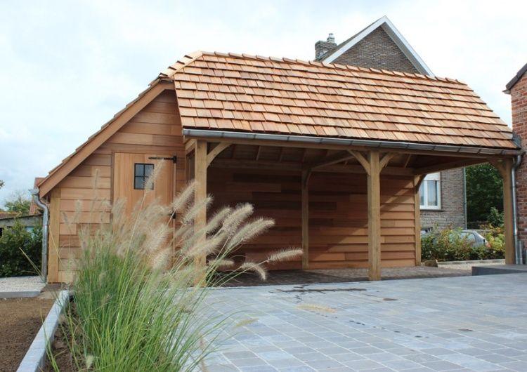 Houten carport met berging - Woodarts   tuinhuis   Pinterest   Wood ...