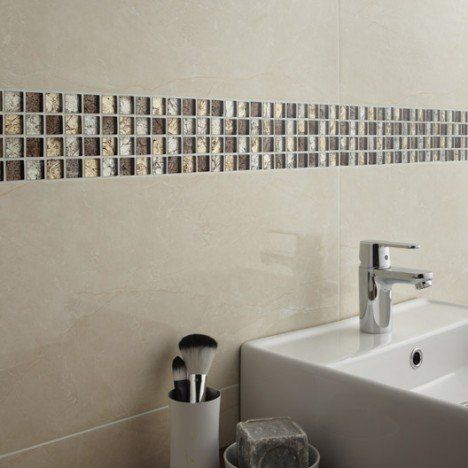 Mosaïque mur Glass select mix marron Revêtement sol/mur