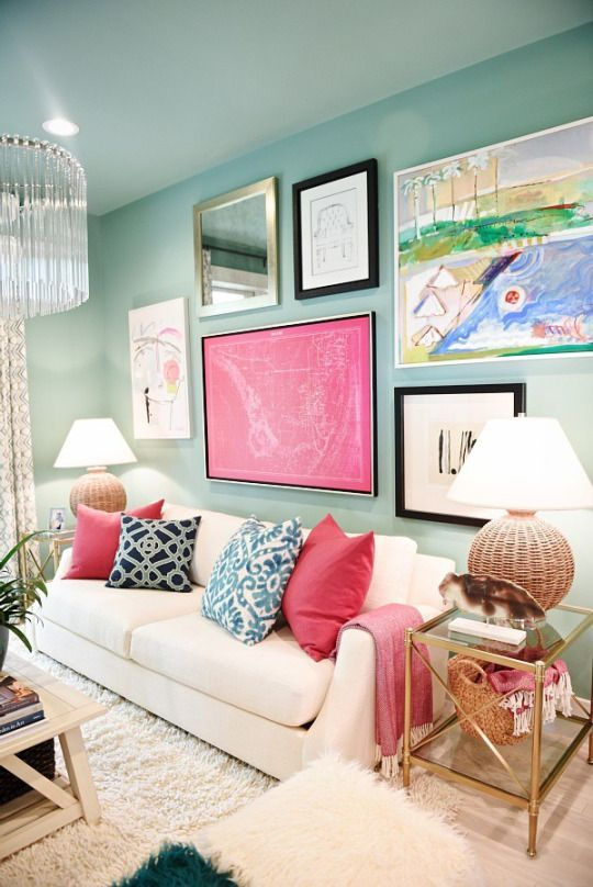 Colorful and Fun Living Room Inspiration | Interior Design | Gardner ...