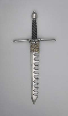 (16th C parrying dagger - catches an opponent's sword blade and leaves them open just long enough...)