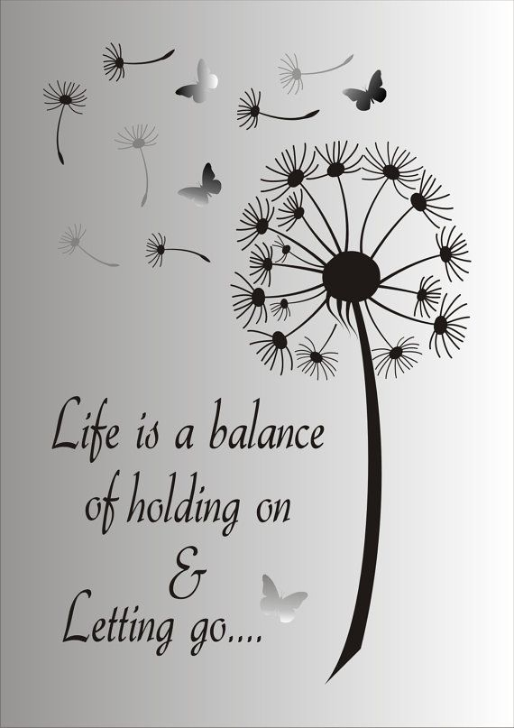 51fe1446c10d3 Life is a balance of holding on and letting go - Reusable STENCIL- 7 ...