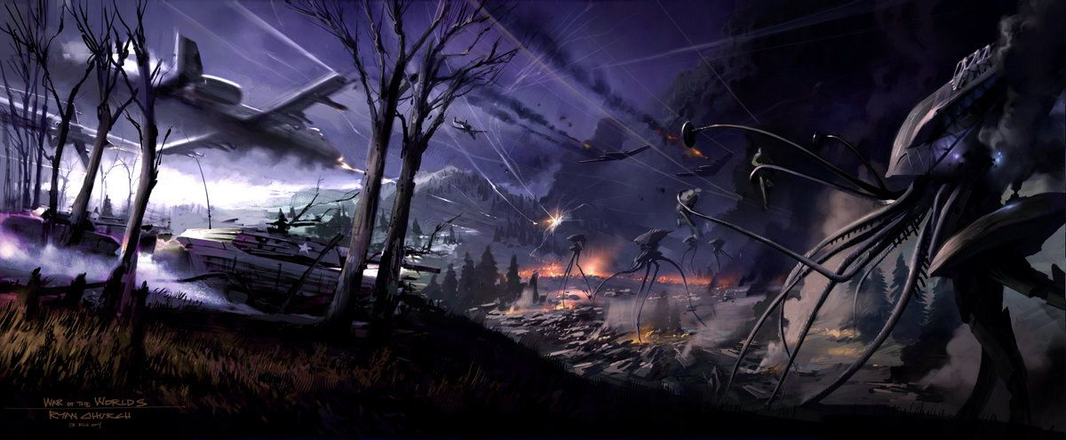 combat scene from the movie war of the worlds 2005 concept design