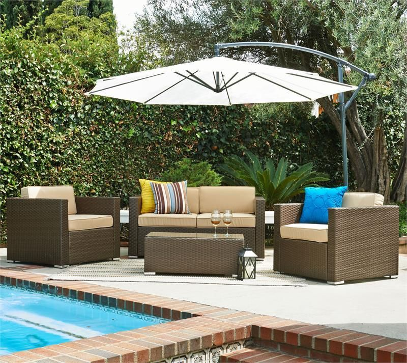 thy hom cane garden 5 piece outdoor furniture set las vegas furniture online - Garden Furniture Las Vegas