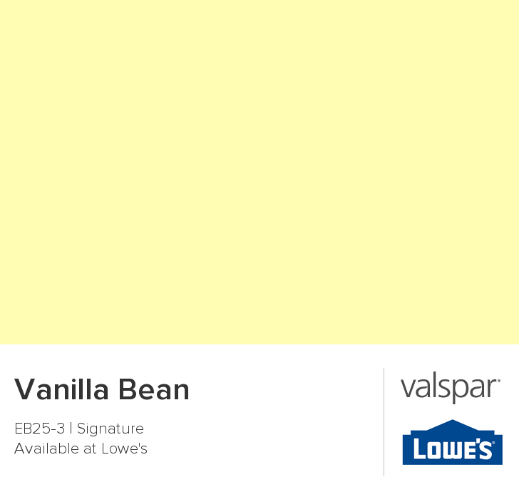Valspar Paint - Color Chip - Vanilla Bean | Color palettes