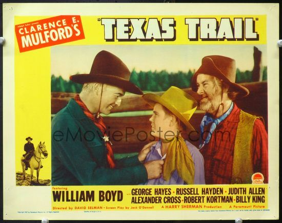 5f913 Texas Trail Lc 37 William Boyd As Hopalong Cassidy Smiling At Billy King With Gabby Hayes In 2020 Hopalong Cassidy John Wayne Movies Classic Movies