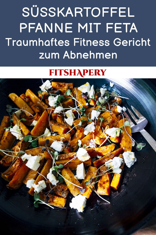 Süßkartoffel Pfanne mit Feta - Gesundes Fitness Rezept