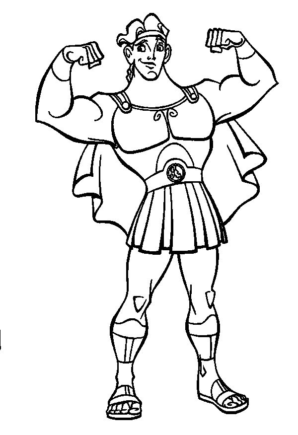 Hercules Show Off Muscles Hercules Coloring Pages Pinterest