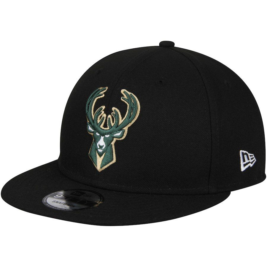 low priced 54207 3dd1b ... new style mens milwaukee bucks new era black statement edition 9fifty snapback  hat your price 29.99