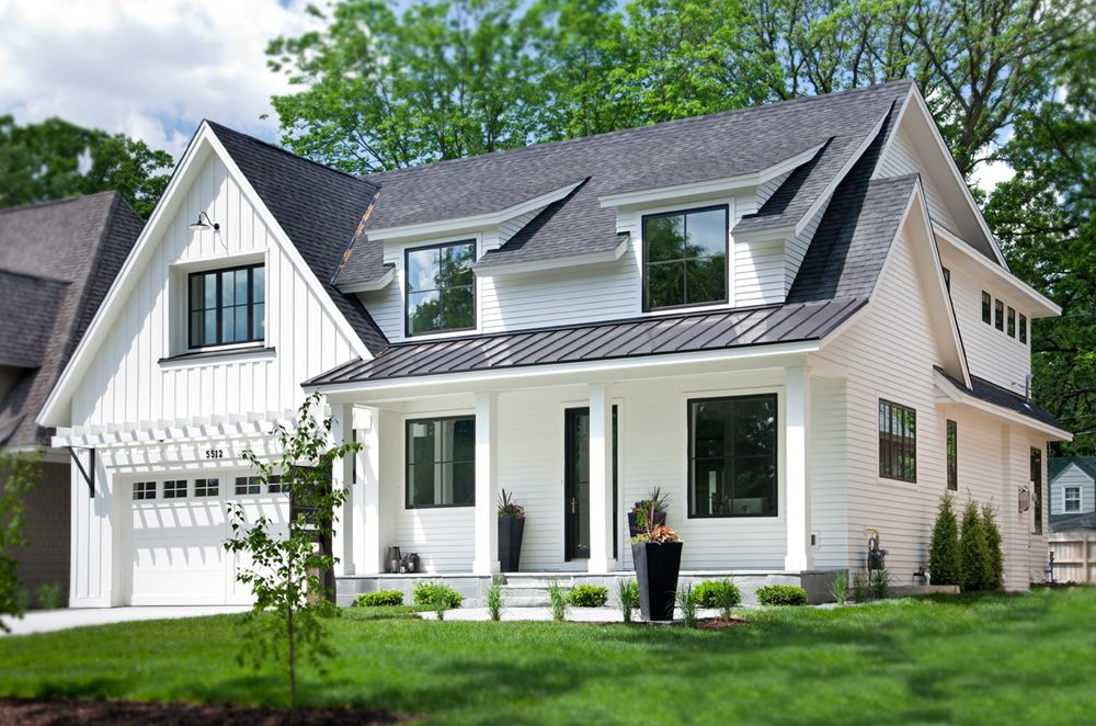 The perfect paint schemes for house exterior white exterior houses exterior house colors - Black house with white trim ...
