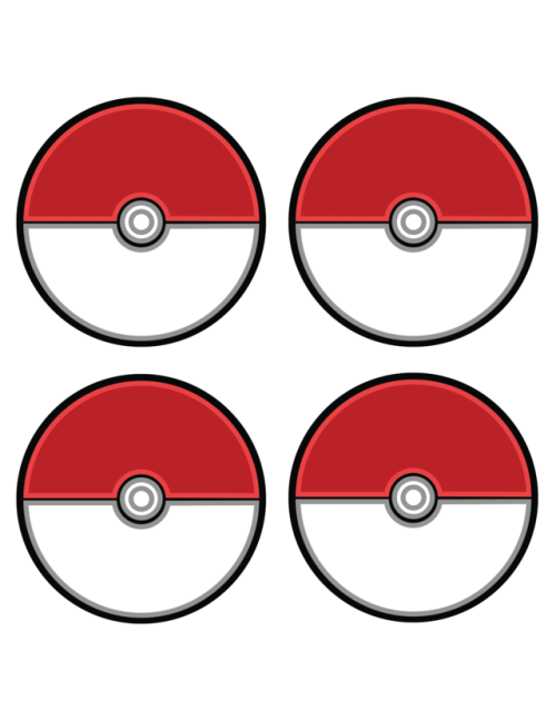 graphic relating to Pokeball Printable identified as Free of charge Print Template for Pokeball Doorway Tags, resident marketing consultant