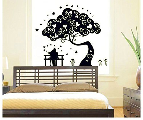 Lovers Under The Tree Fluorescent Dot Glow In The Dark Stickers Wall Decals Home A Wall Stickers Living Room White Wall Stickers Wall Stickers Glow In The Dark