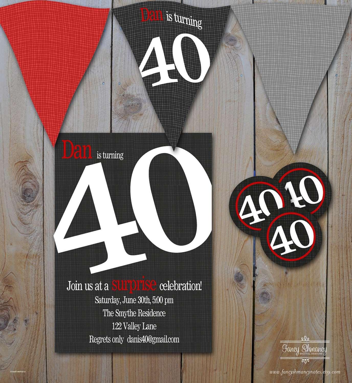 New 40th Birthday Party Invitations for Him | 30th birthday ...