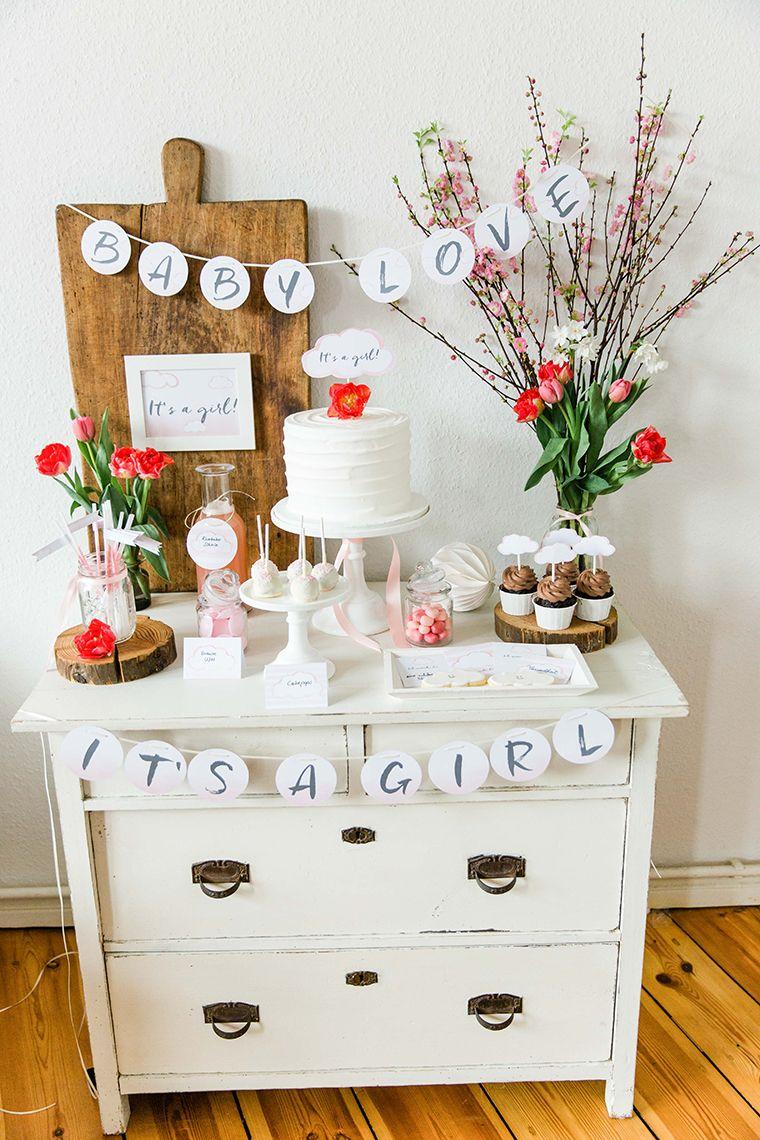 rosa babyparty deko babyparty m dchen fotos photo poeten cupcakes cakepops. Black Bedroom Furniture Sets. Home Design Ideas