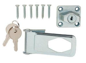 Crown Bolt 62364 3 1 2 Inch Key Locking Hasp Zinc Plated By Crown Bolt 8 76 From The Manufacturer The Crown Bolt 3 1 2 Inch Zinc Plated Steel